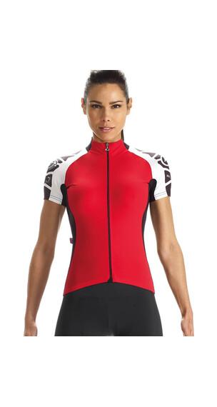 assos SS.laalalaiJersey_evo7 Koszulka kolarska Kobiety czerwony